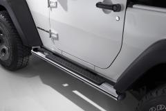 Verchromte Klapptritte, seitliche Trittbretter unterhalb der Tür für Jeep Wrangler