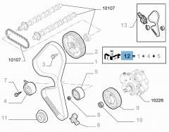 Steuerriemen-Set (Riemen, fester und einstellbarer Riemenspanner) - 3 Teile für Fiat Professional Scudo