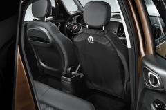 Schwarze Rücksitzabdeckung für Fiat und Fiat Professional
