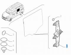 Elektrischer Fensterheber hinten links für Fiat und Fiat Professional