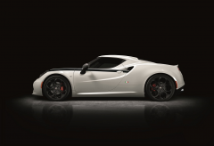 Emblem der italienischen Flagge für Alfa Romeo 4C
