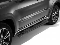Schwarze Klapptritte, seitliche Trittbretter unterhalb der Tür für Jeep Grand Cherokee