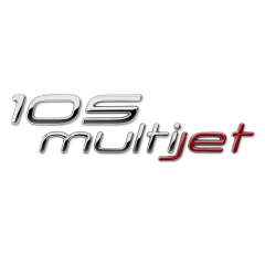 Schriftzug 105 Multijet hinten für Fiat und Fiat Professional