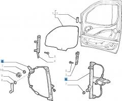 Mechanischer Fensterheber vorne rechts für Fiat und Fiat Professional