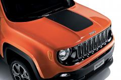 Aufkleber für die Motorhaube im Mattschwarz für Jeep Renegade