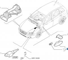 Seitlicher Fahrtrichtungsanzeiger für Fiat und Fiat Professional