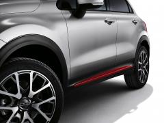 Rote Seitenabschlüsse für Türen für Fiat 500X