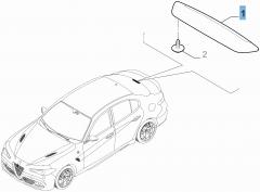 Rückleuchte (drittes Bremslicht) für Alfa Romeo Giulia