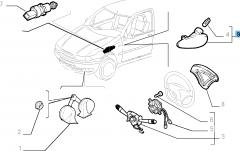 Seitlicher Fahrtrichtungsanzeiger für Fiat Professional Strada