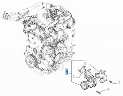 Wasserpumpe komplett mit Dichtung und Leitung für Alfa Romeo