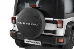 Ersatzradabdeckung mit Rubicon-Logo.