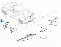 Seitlicher Fahrtrichtungsanzeiger vorn rechts für Alfa Romeo 4C