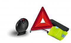 Notfall-Set mit Warndreieck und reflektierender Warnweste für Fiat Professional Talento