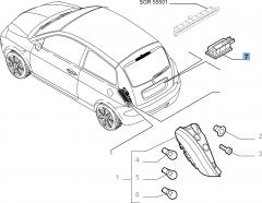 Kennzeichenleuchte für Lancia