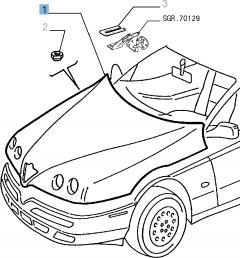 Haube für Alfa Romeo GTV und Spider