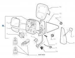 Elektrischer rechter Außenspiegel für Fiat Professional Scudo