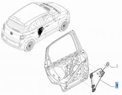 Elektrischer Fensterheber hinten links für Fiat 500L