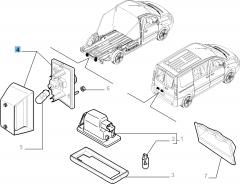 Kennzeichenleuchte rechts für Fiat Professional Scudo