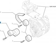 Einstellbarer Riemenspanner für Fiat Professional Scudo