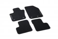 Bouclé-Fußmatten mit 500-Logo mit Knöpfen Beifahrerseite bis Fahrgestellnummer Zfa3340000P753302