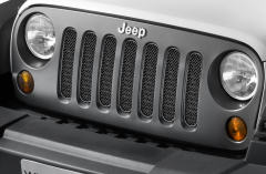 Satinierter schwarzer Frontgrill für Jeep